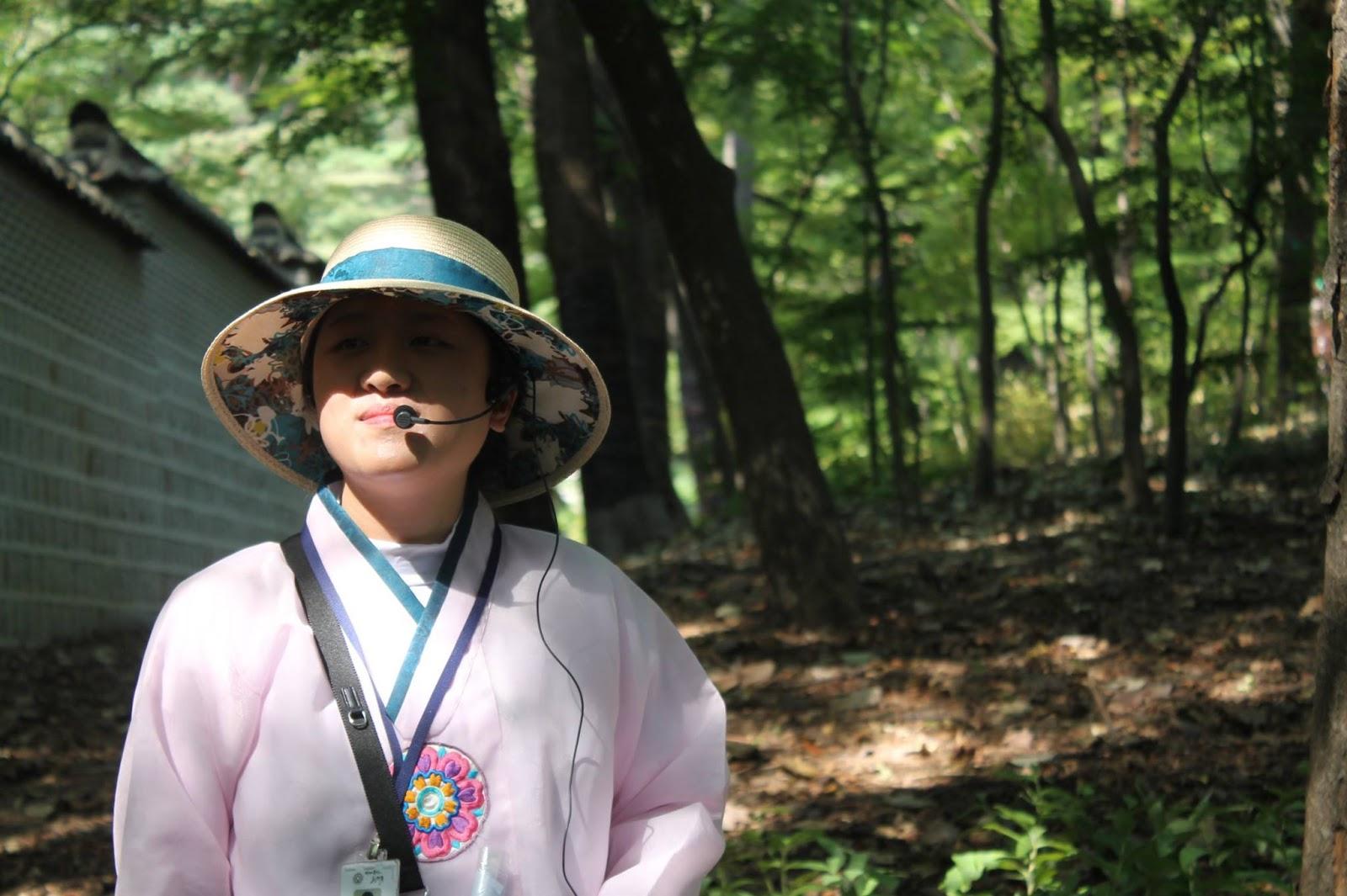 Guida nel giardino del Palazzo di Changdeokgung, Seoul