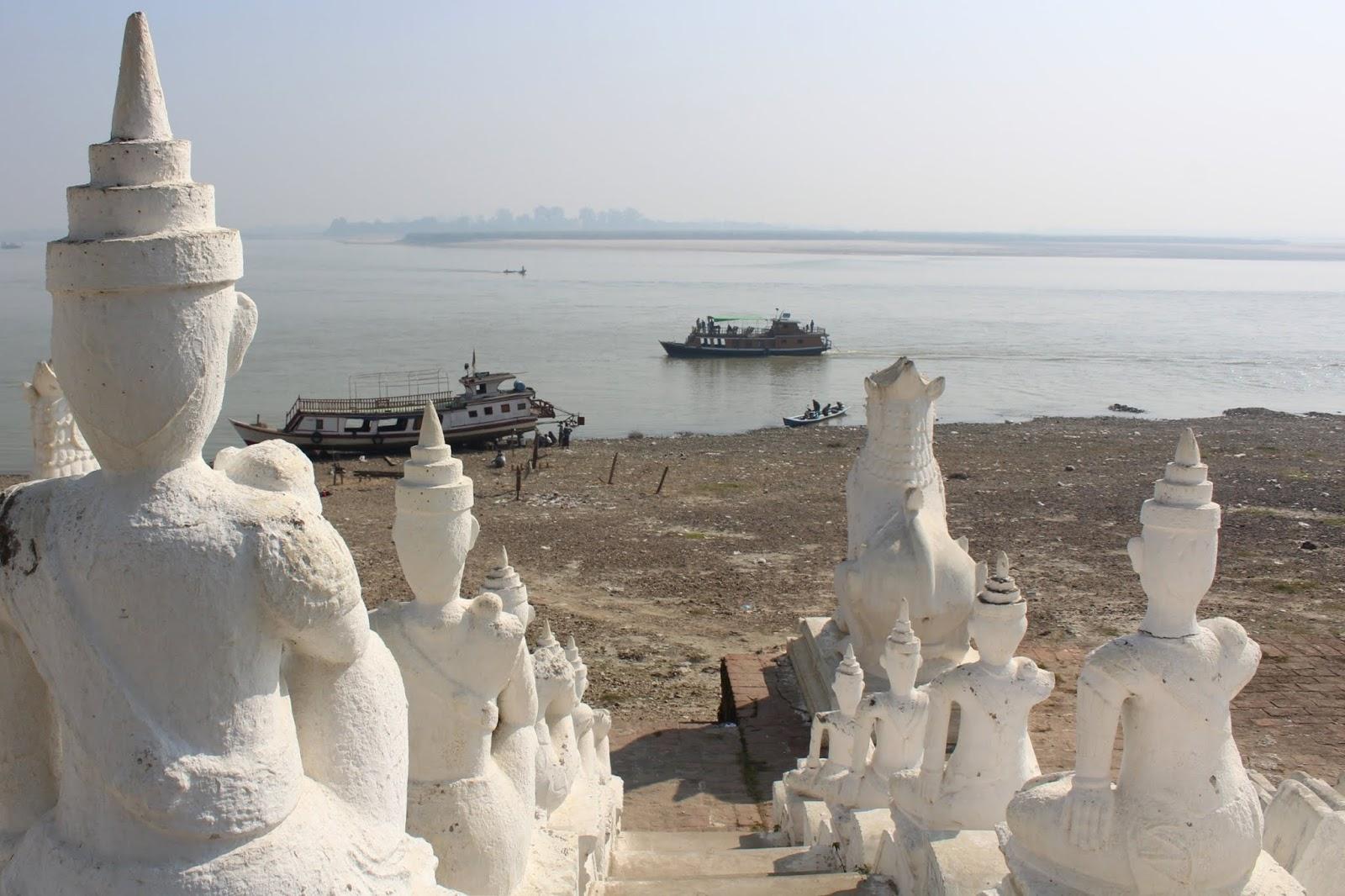 fiume irrawadi mingun myanmar