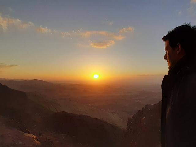 tramonto wadi dana