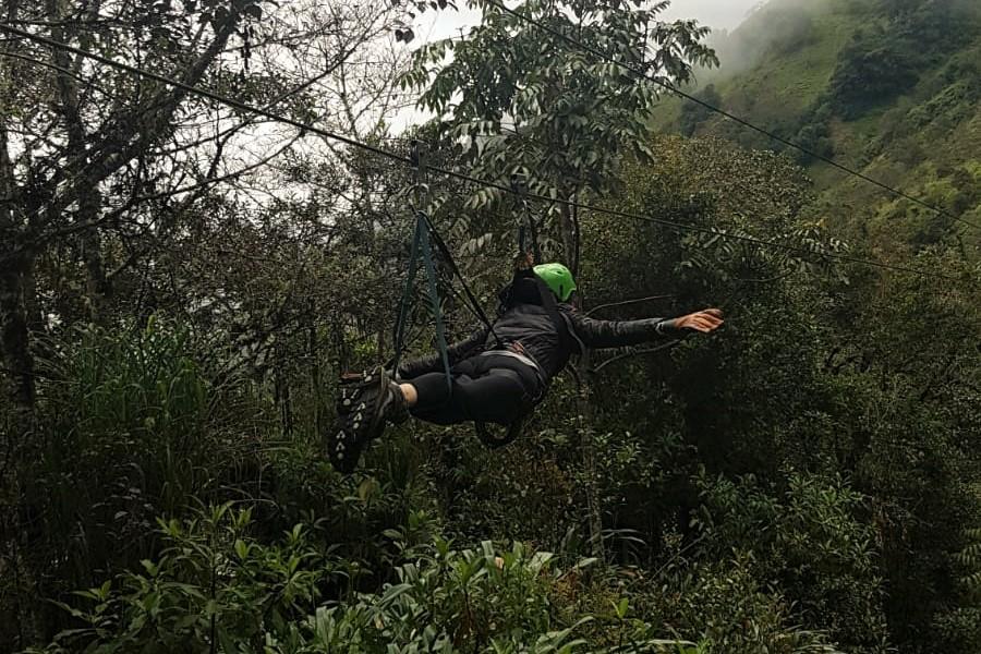 Zip-line Baños Ecuador