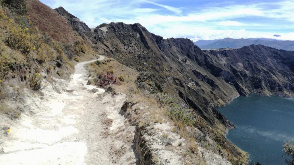 Sentiero sulla Laguna di Quilotoa, Ecuador