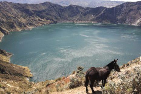 La laguna di Quilotoa, Ecuador