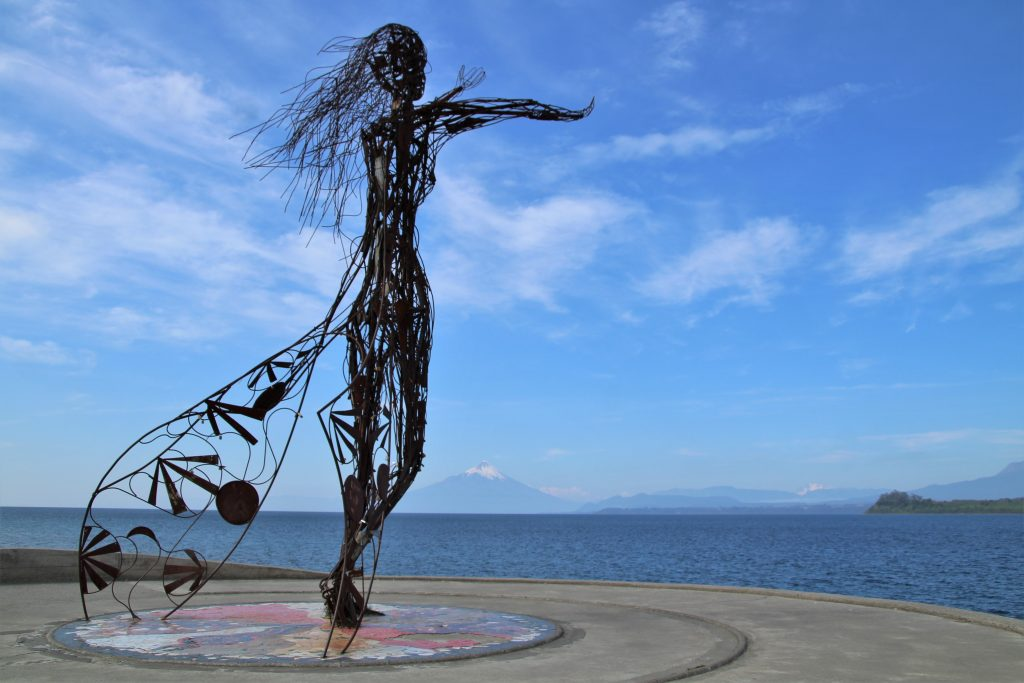 Statua Principessa Licarayén, Lago Llanquihue - Puerto Varas