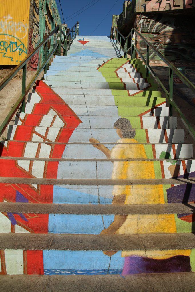 Escalera a Valparaiso